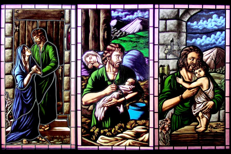 window-Joseph-&-Baby-Jesus-&-holy-family